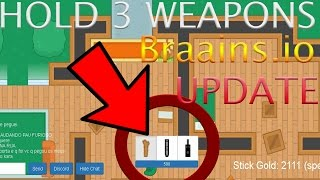 Braainsio Beta New Update  You Can Now Have 3 Weapons + Map Objects Updated