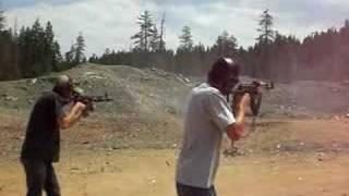 AK47 Vs AR15 AK WINS