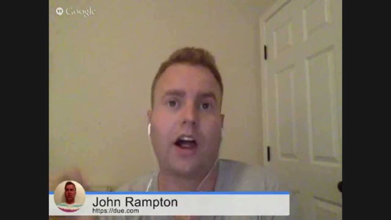 Talking to John Rampton and Learning About Due.com 1.29