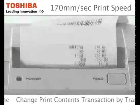 Toshiba TRST-A10/A15 Double Sided Thermal Receipt Printer