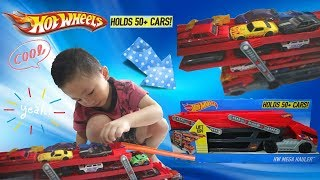 UNBOXING HOT WHEELS   HW MEGA HAULER   KIDS PLAY TIME   Playing a lot of Hotwheels   TOYS REVIEW