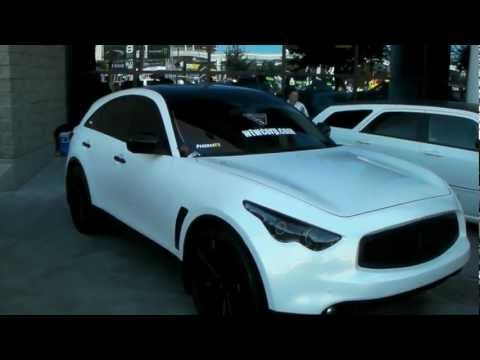 DUBSandTIRES.com 2011 Infiniti FX Review 24 Inch Gianelle black Luxury Wheels  Asanti Forgiato