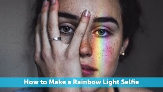 This rainbow light selfie just might be the inspo you need for