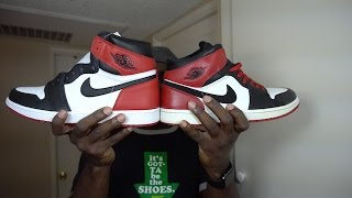 2016 Air jordan 1 Black Toe | Comparison to Old/New Love Black Toe | Review