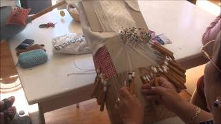 Making Bobbin Lace In Camarinas, Spain