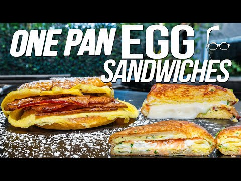ONE PAN EGG SANDWICH/TOAST (4 EASY & EPIC RECIPES!)