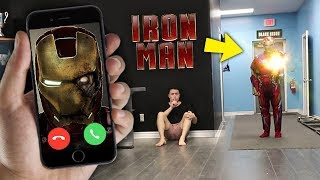 CALLING IRON MAN ON FACETIME AT 3 AM!! *HE USED HIS CANNON*