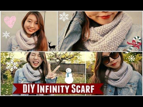 (DMC Knitting/Crochet) ✂ DIY: Infinity/Circle Scarf | How to Knit