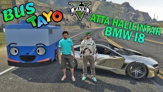BALAP LIAR!! ATTA HALILINTAR VS BUS TAYO - GTA 5 YOUTUBER KOCAK PARODY