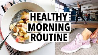 6AM HEALTHY MORNING ROUTINE 2019 - breakfast recipe, workout + productivity tips!