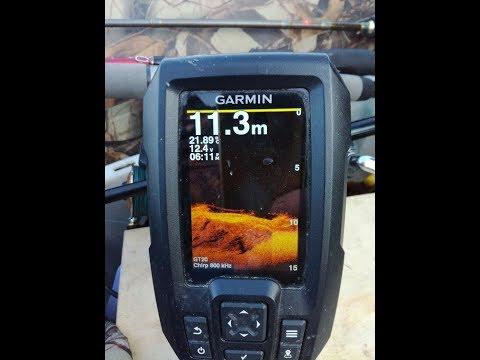 Garmin Striker 4DV. Работа эхолота на полном ходу.Отображение коряг и бровок на экране эхолота.