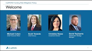 CalPERS Funding Risk Mitigation Policy Updated Webinar   July 15, 2021