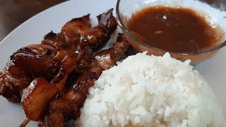 PINOY BARBEQUE ON STICK With Sauce RECIPE (PANG-NEGOSYO)