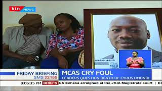 Kiambu County MCAs makes claims of an assassination on Omondi (Gearbox)