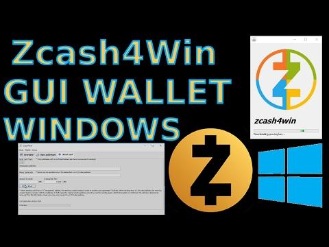 Zcash4Win ZCash GUI Windows Wallet ZEC
