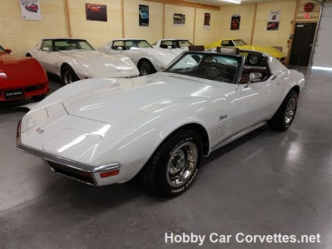 1972 Classic White Corvette Stingray T Top 4spd Video