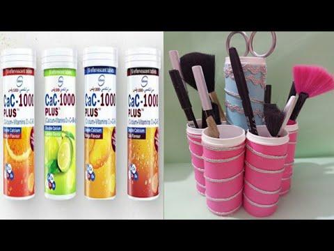 Makeup holder | waste bottle craft | craft ideas
