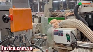 Máy làm mộng dương 2 đầu Woodmaster   Máy đánh mộng được sử dụng nhiều nhất 2021