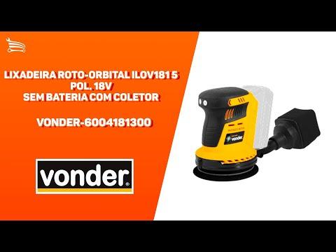 Lixadeira Roto-Orbital ILOV181 5 Pol. 18V sem Bateria com Coletor - Video