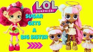 LOL SURPRISE Sugar Gets A Big Sister DIY Shopkins Shoppie Doll Rosie Bloom Custom Makeover