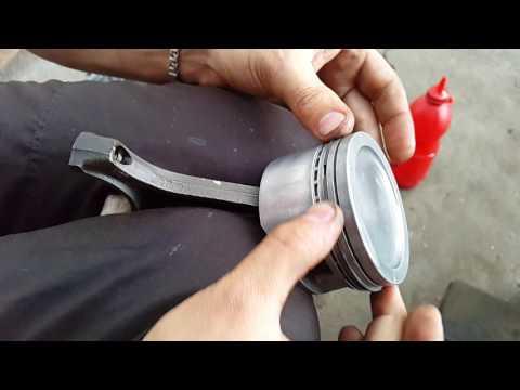 замена вкадышей и поршневых колец, правильная сборка блока цилиндров C16NZ