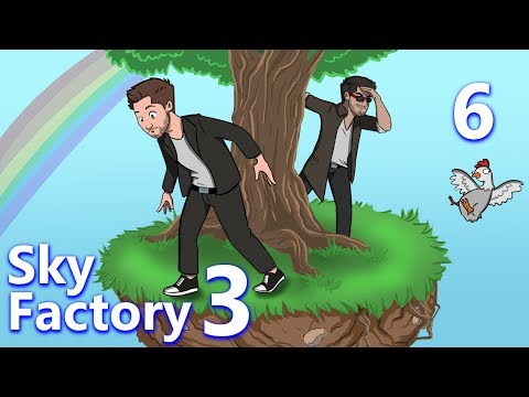 Minecraft: Sky Factory 3 w/ CaptainSparklez - Ep 6 - GRINDING AND TWITCHING