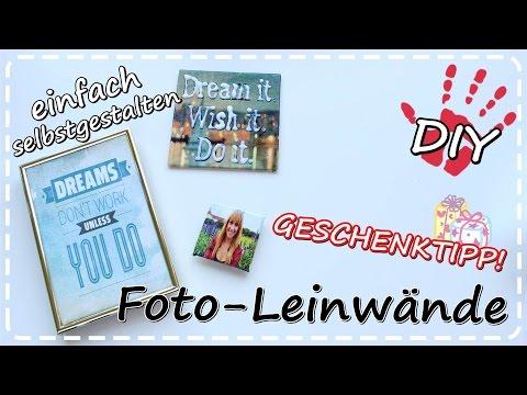 DIY Foto-Leinwand selbermachen mit Transfer Potch | Geschenkideen