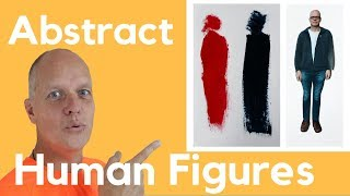 Abstract Art Human Figures – Painting Figurative