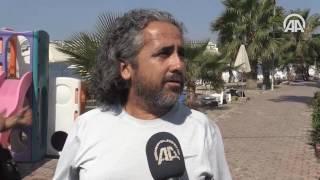 Ege Denizi'ndeki deprem güvenlik kameralarına yansıdı