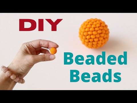 HOW TO MAKE BEADED BEADS | DIY Beaded Bracelet | Beading Techniques For Beginners | Jewelry Making