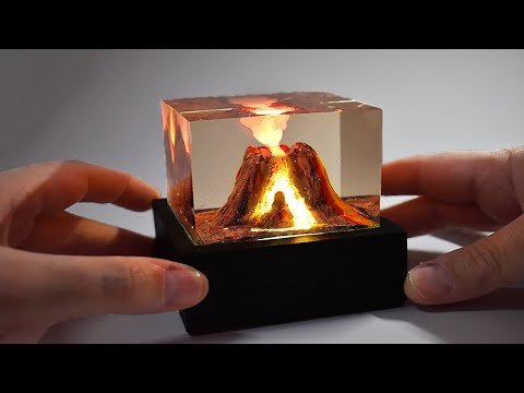 Fun and Easy Project To Make An Active Volcano Resin Lamp