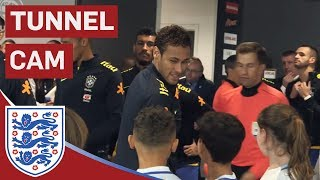 Neymar Jr, Willian, Coutinho in Town as England Take on Brazil | Tunnel Cam | Inside Access