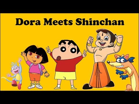 A Cartoon Love Story - Shinchan Meets Dora | Put Chutney