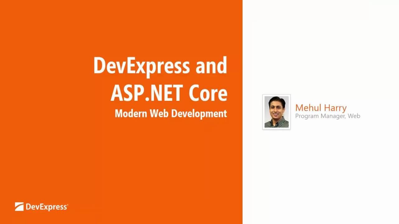 Webinar: ASP NET Core UI Controls - DevExtreme v16 1