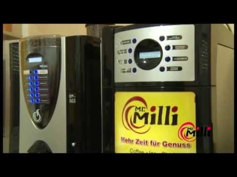 Werbespot Mr Milli Suhl Ihr Lieferant für Slush, Eismaschinen, Kaffeeautomaten, Kaffee zubehör