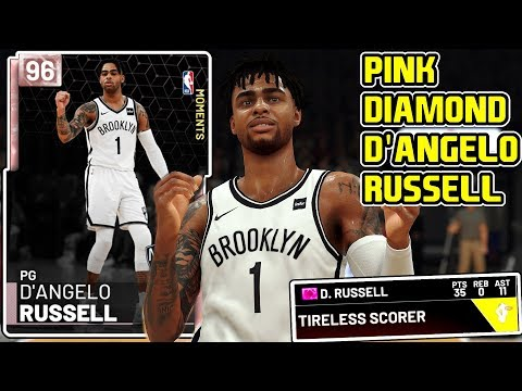 b7837b1c23e0 PINK DIAMOND D ANGELO RUSSELL GAMEPLAY! THE PERFECT POINT GUARD! NBA 2k19  MyTEAM