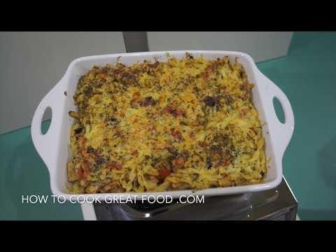 Garlic Chicken Mac n Cheese Recipe - Pasta Al Forno con Pollo