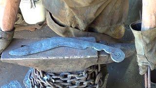 Blacksmithing  Forging A Lawn Mower Blade Kukri Part 1  Forging