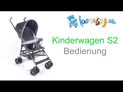 Kinderwagen S2 Blau Bedienung