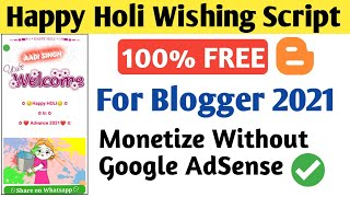 Happy Holi Pro Wishing Script For Blogger 2021 | Festival Wishing Website Script Free Download - Download this Video in MP3, M4A, WEBM, MP4, 3GP