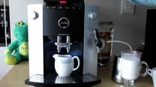 Making A Caffè  Latte With A Jura Impressa F50
