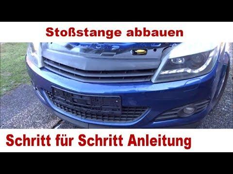 Opel Astra H Scheinwerfer ausbauen und Stoßstange abbauen   Anleitung Schritt für Schritt