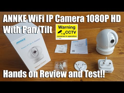 ANNKE WiFi IP Camera Nova Orion 1080P HD Pan/Tilt [Hands of Review and Test]