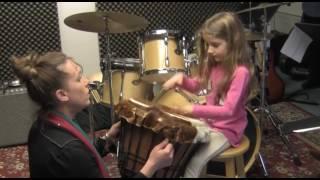 Josi Davis Shows Us Her Handmade Gimbal Drum