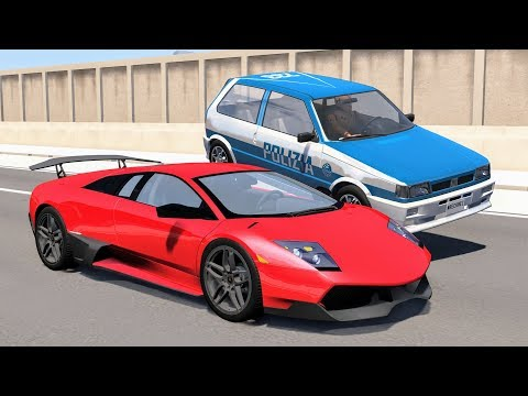 Crazy Police Chases #89 - BeamNG Drive Crashes