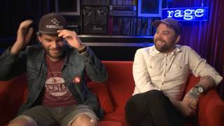 Frightened Rabbit discuss Death Cab for Cutie's You're A Tourist on Rage