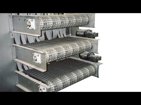 Video - Sanitary Metal Belt Conveyors   Laughlin Conveyor