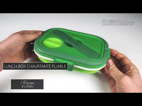 LUNCHBOX CHAUFFANTE PLIABLE - manger chaud sans micro-onde - [PEARLTV.FR]