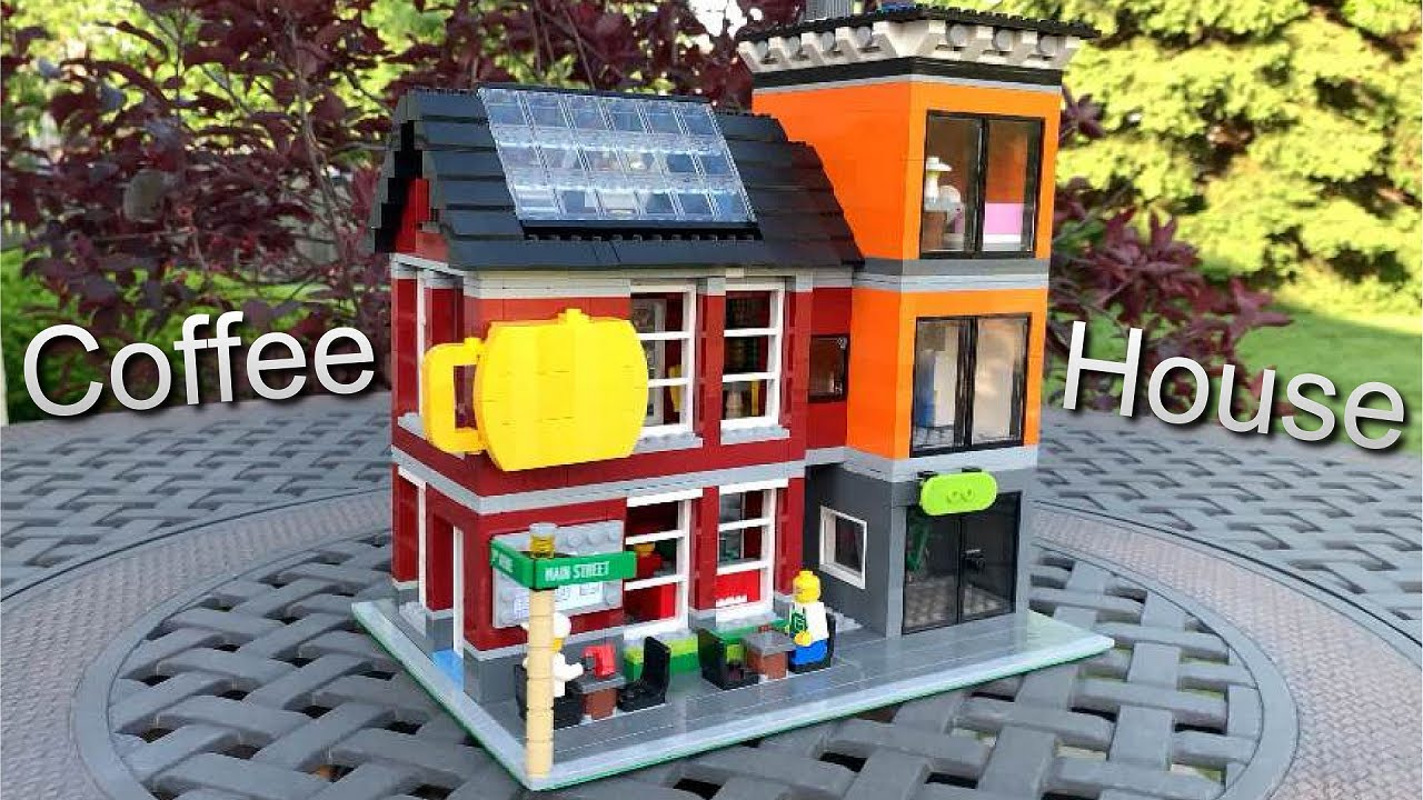 My First EVER Modular Building! // LEGO Coffee Shop MOC