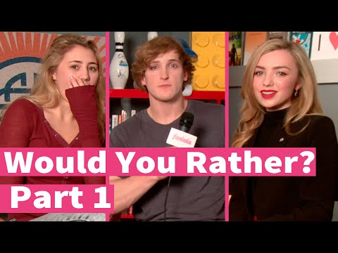 Peyton List, Logan Paul and Lia Marie Johnson play Would You Rather! Part 1